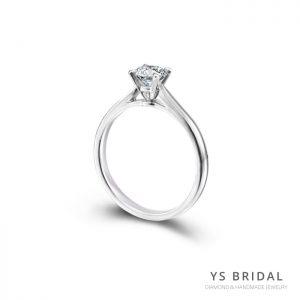 求婚鑽戒-經典四爪鉑金鑽戒