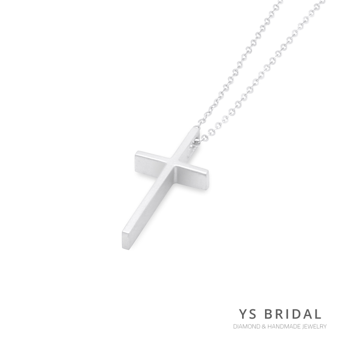 極簡鉑金十字架