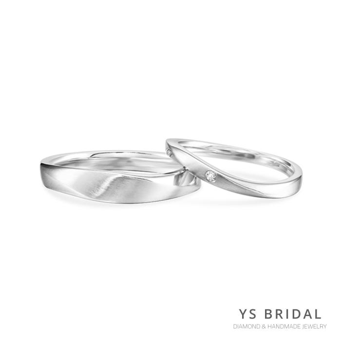 結婚對戒-極簡線條PT950鉑金對戒