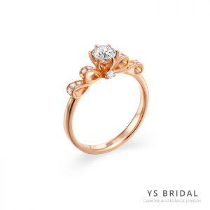 求婚鑽戒-古典輕奢華玫瑰金鑽戒
