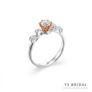 求婚鑽戒-古典輕奢華鉑金、玫瑰金鑽戒