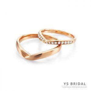 結婚對戒-V字極簡線條鉑金對戒