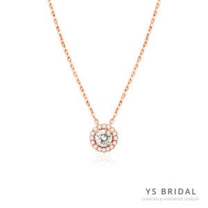 玫瑰金項鍊-環鑽玫瑰金項鍊