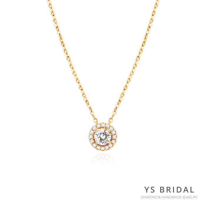 黃K金項鍊-環鑽黃K金項鍊