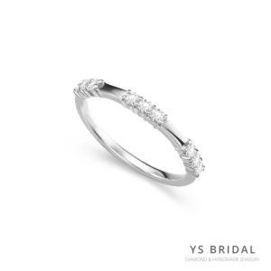 永恆婚戒-極簡風格鉑金線戒