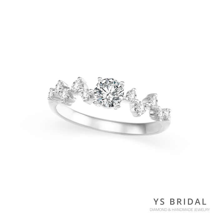 訂婚鑽戒-輕奢華復古鉑金鑽戒