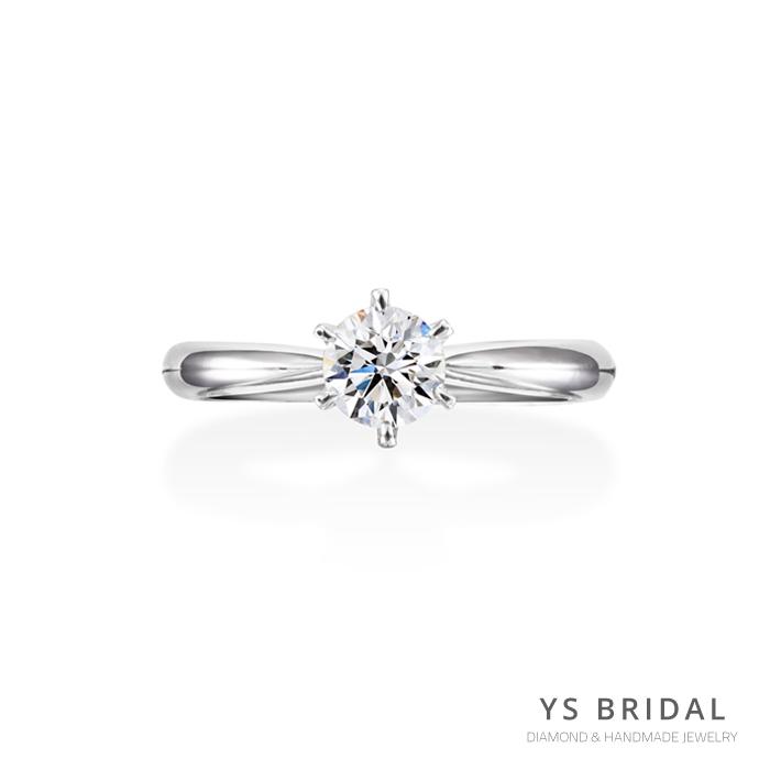 訂婚鑽戒-經典六爪鉑金鑽戒