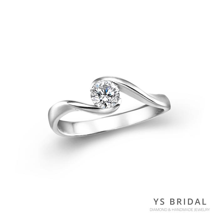 求婚鑽戒-包鑲鉑金鑽戒