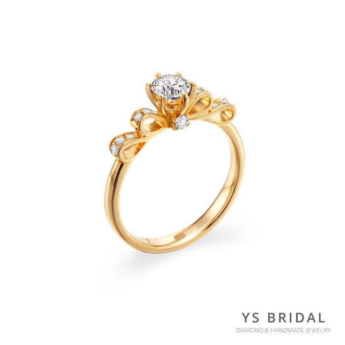 求婚鑽戒-古典輕奢華黃K金鑽戒