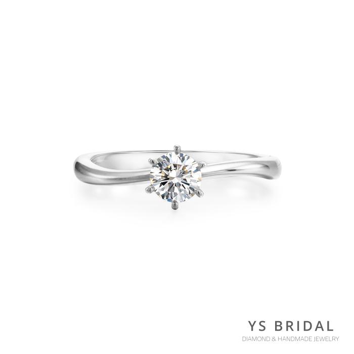 鉑金訂婚鑽戒-極簡線條鑽戒