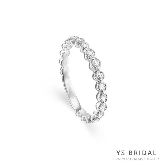 結婚線戒-橢圓鑽座鉑金線戒