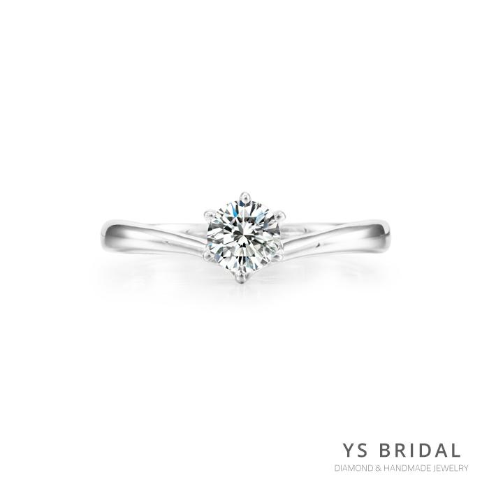 求婚鑽戒-V字線條鉑金鑽戒