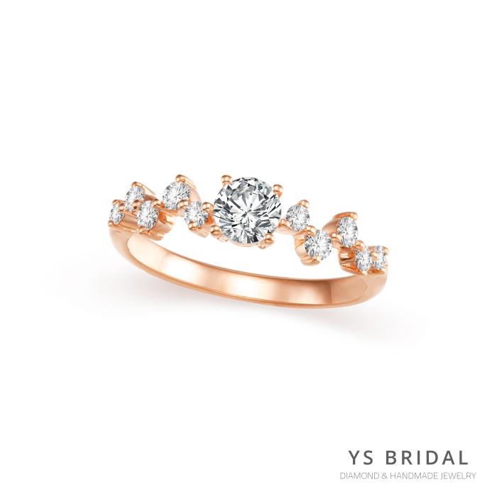訂婚鑽戒-輕奢華復古玫瑰金鑽戒