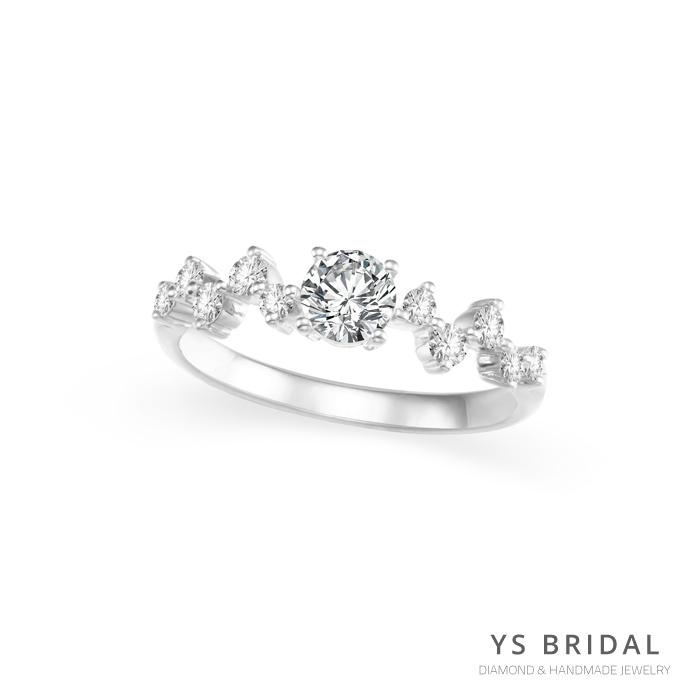 訂婚鑽戒-輕奢華典雅鉑金鑽戒